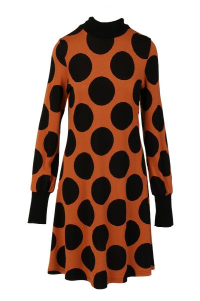 Image of Genoveva orange black dress