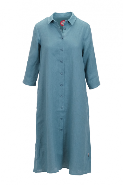 Image of Cecillia petrol linnen dress