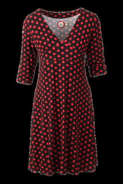 Image of Eirin black red polkadot