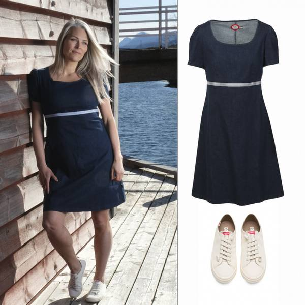 Image of Outfit jeansdress + Camper
