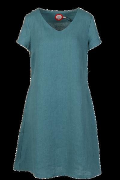 Image of Hannalena petrol linnen dress