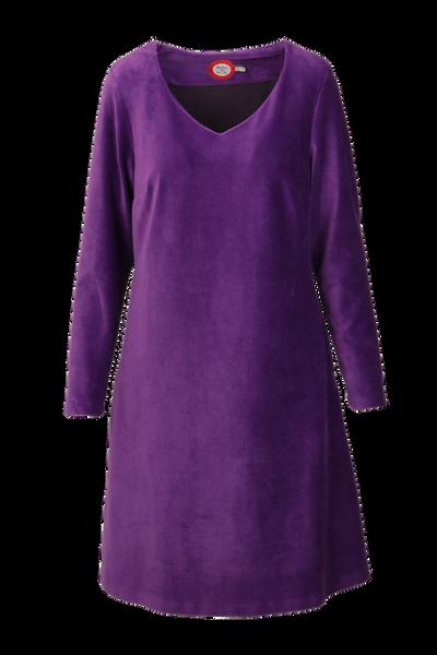 Image of Madison dress babycord purple
