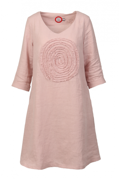 Image of Madeleine light pink linnen