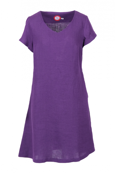 Image of Hannalena purple linnen dress