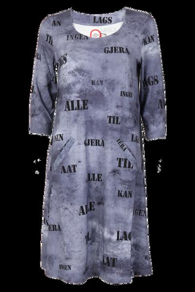 Image of Hallfrid Grey art dress
