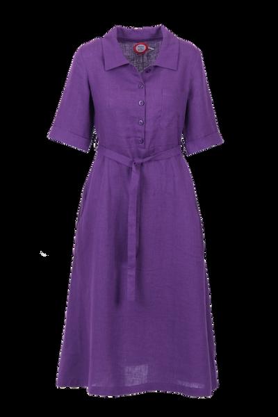 Image of Pernilla purple linendress