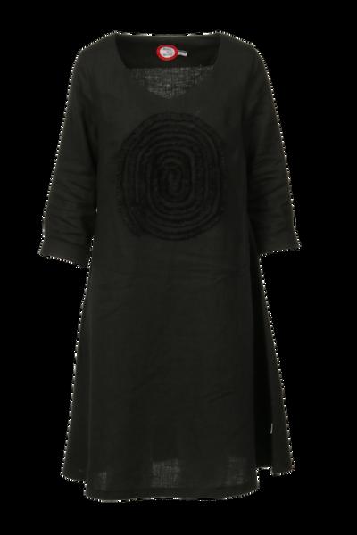 Image of Madeleine black linnen dress