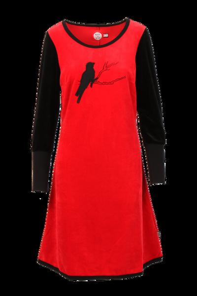 Image of Sonja  red velor dress