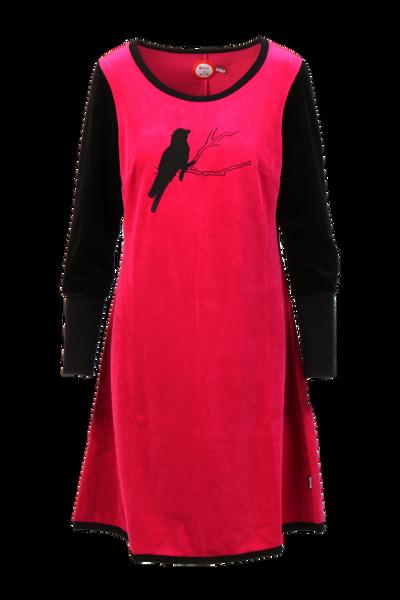 Image of Sonja fuchsia velor dress