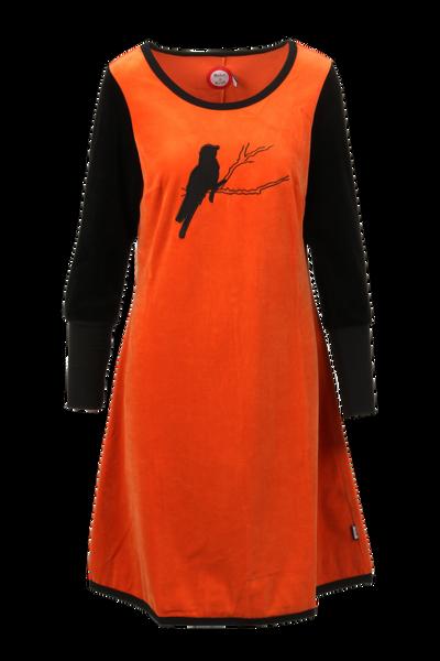 Image of Sonja oransje velor dress