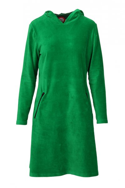 Image of Gro green sporty hooded dress