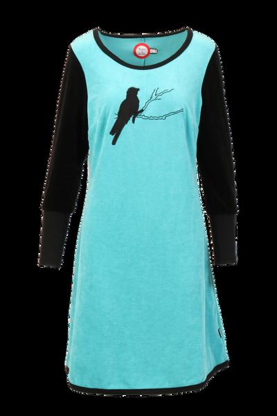 Image of Sonja turquise velor dress