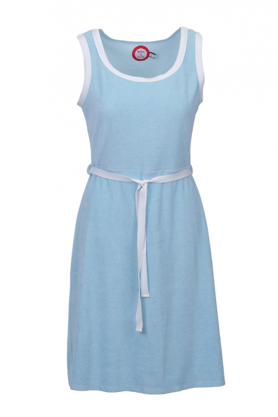 Image of Agnes light blue and white