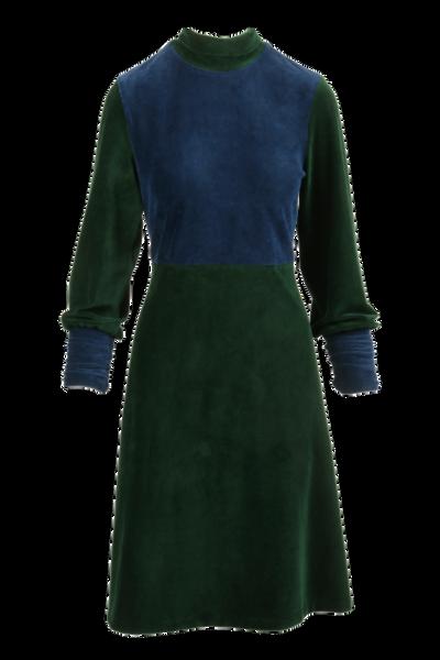 Image of Wigny blue green velvet dress