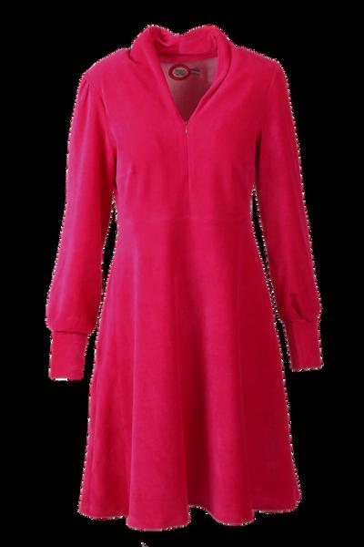Image of Louise dress babycord fuchsia