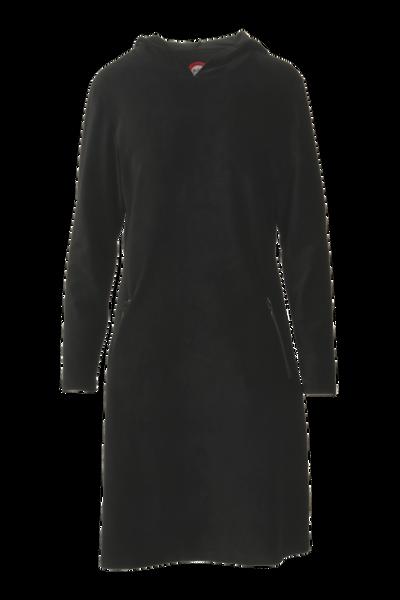 Image of Gro black sporty hooded dress