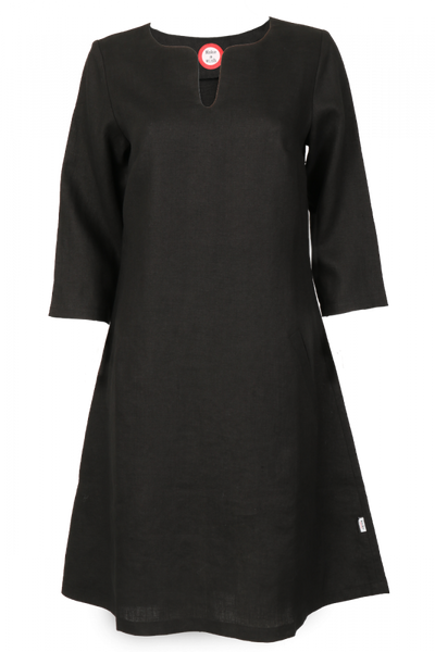 Image of Hera black linnen dress