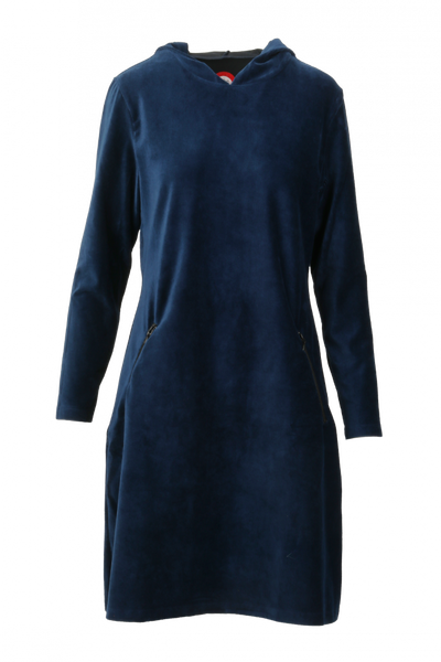 Image of Gro blue sporty hooded dress