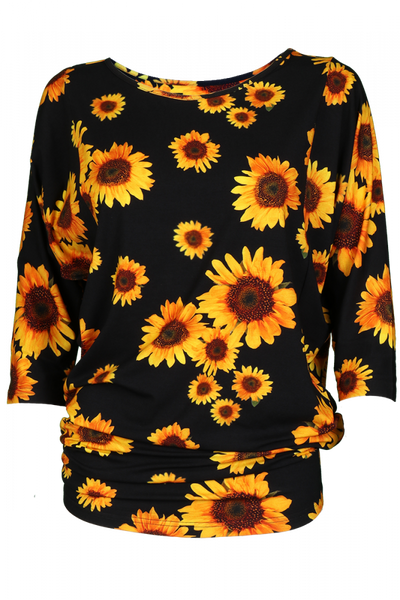 Image of Sweatter D8  with sunflower