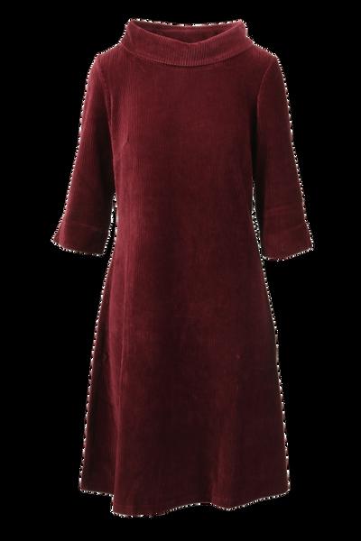 Image of Pamela bordeaux velvet dress