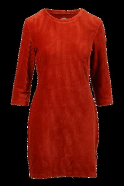 Image of Linn rust short velvet dress
