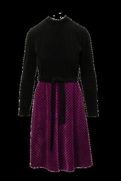 Image of Leticia purple velvet dress