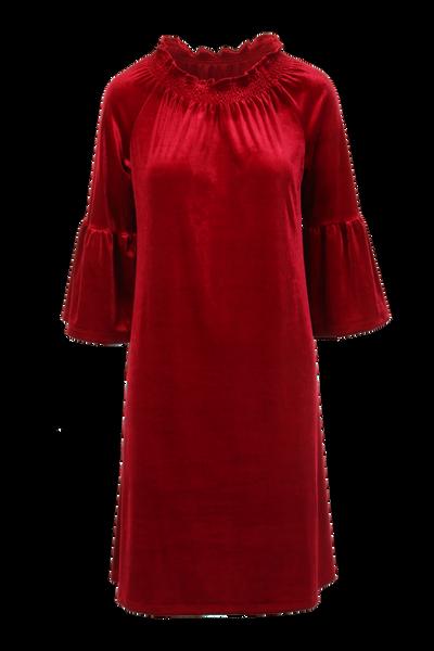 Image of Roberta dark red  velvet