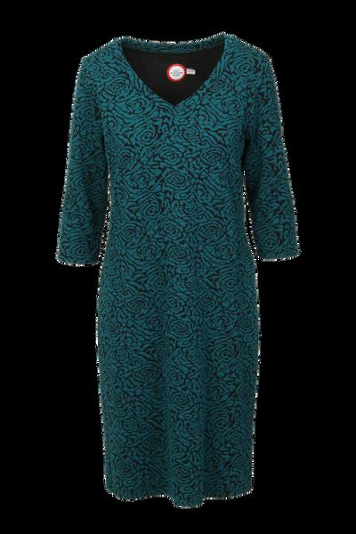 Image of Vanja petrol blue dress