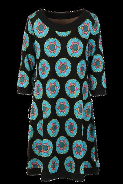 Image of Henna black blue dress