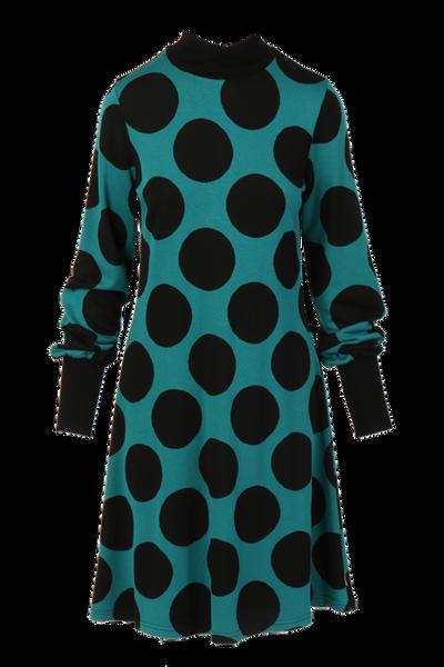 Image of Genoveva petrol black dress