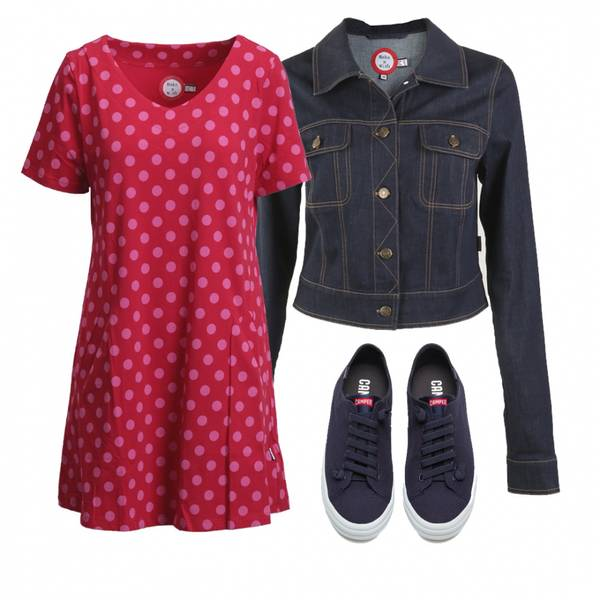 Image of Outfit Alexis tunic red and