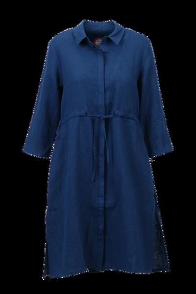 Image of Samanta navy blue linnen