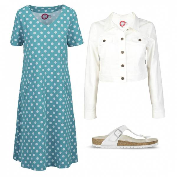 Image of Outfit Della turquoise