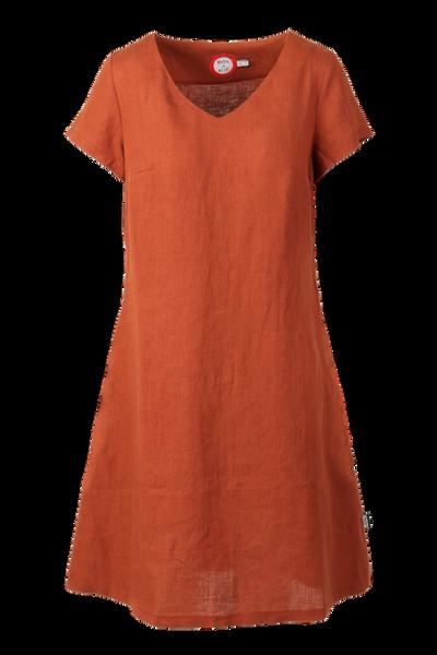 Image of Hannalena rust linnen dress