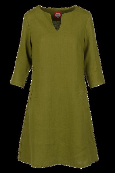 Image of Hera oliven linnen dress