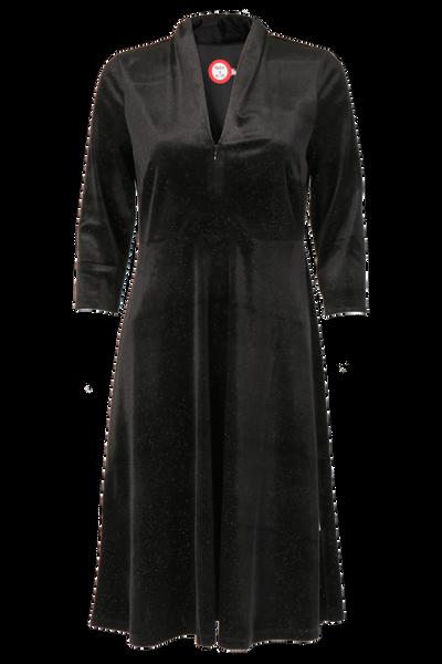 Image of Luca black glitter velvet