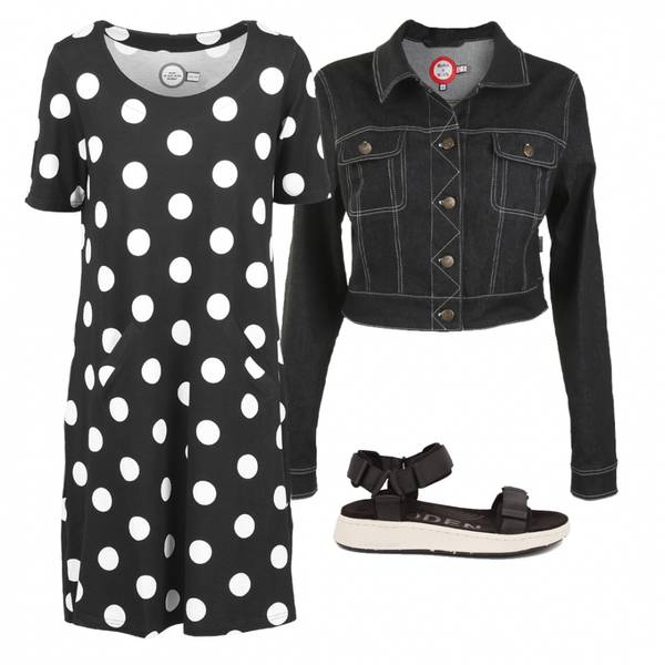 Image of Outfit Paola black and white
