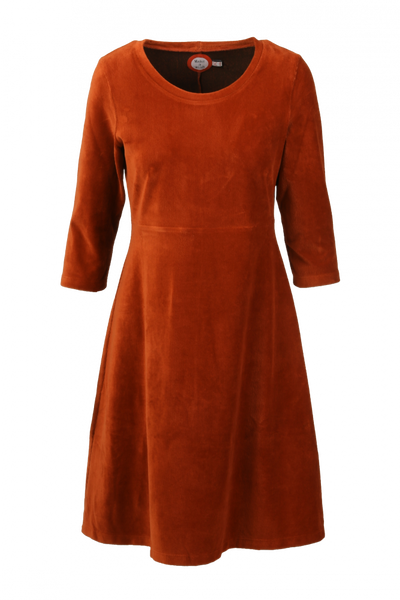 Image of Elli dress babycord rust