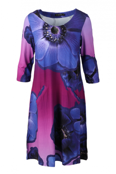 Image of Anemone dress purple blue D67