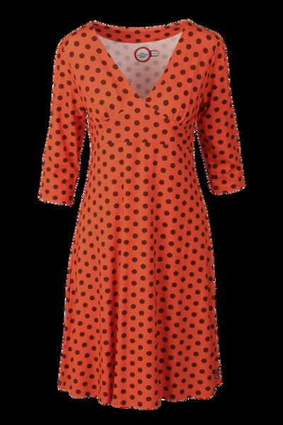 Image of Eirin orange brown polkadot
