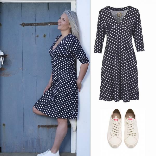 Image of Eirin blue dress + Camper