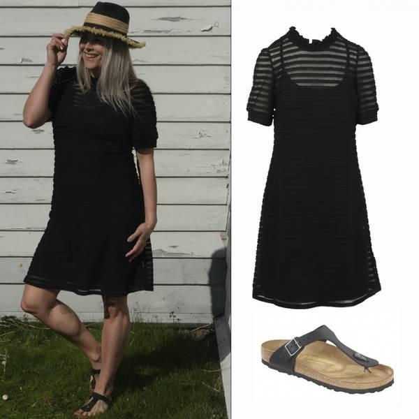 Image of Outfit Emilia black dress +