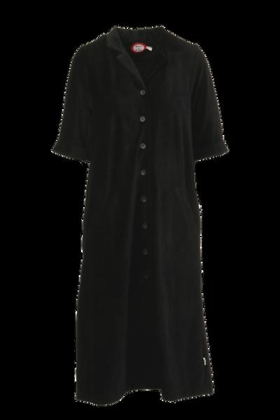 Image of Giselle black shirt dress