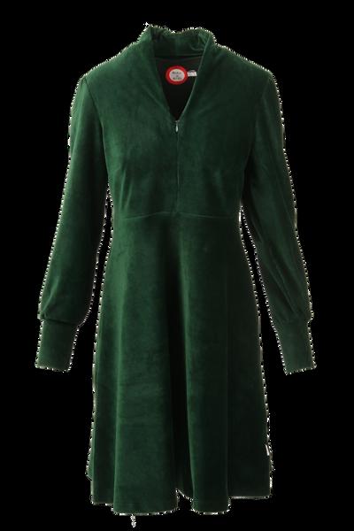Image of Louise dress babycord green
