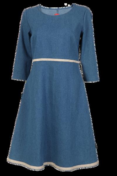 Image of Synnøve  Jeans dress blue