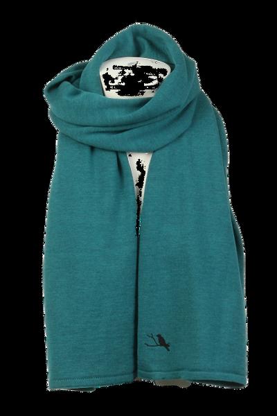Image of Chloe petrol scarf in 100%