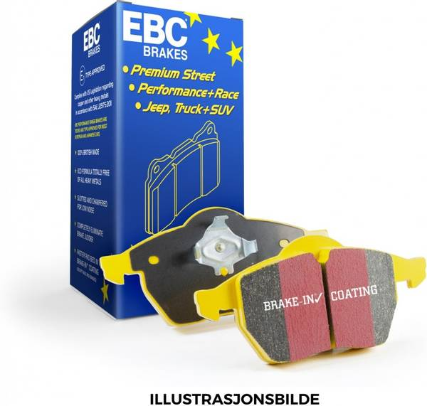 Bilde av EBC Yellowstuff Bremseklosser Tesla X Front / bak
