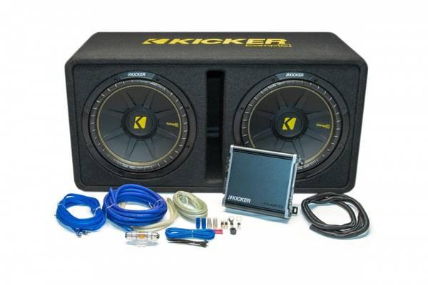 Bilde av Kicker KickPack™ - KPC2x12 basspakke Kasse, Amp og Kabelsett