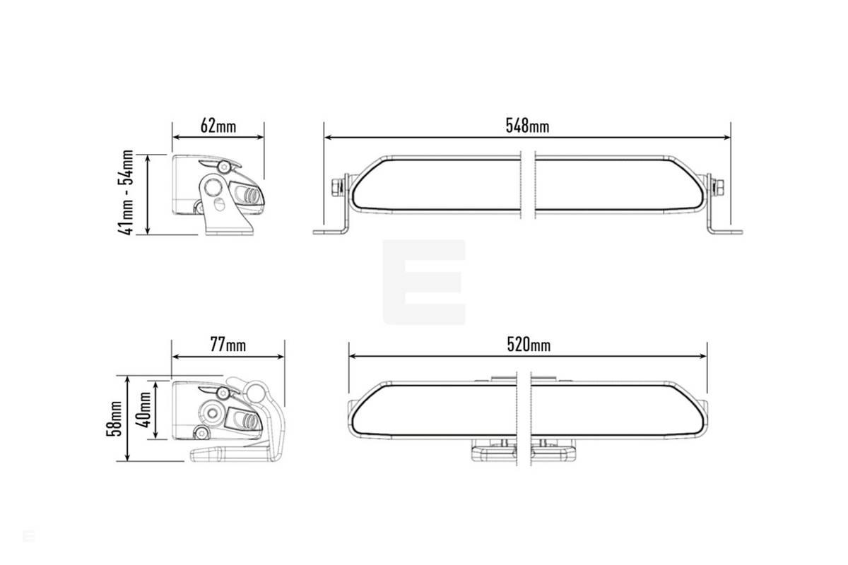 Tesla Model 3 Lazer Linear 18 Elite LED Ekstralys pakke for Tesl