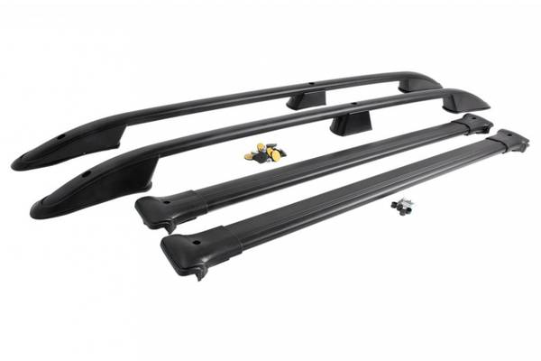 Bilde av Takrails i svart Aluminium/Plast till VW Transporter T6 L2 2016-